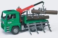 MAN Houttransporter met kraan/boomstammen  1:16