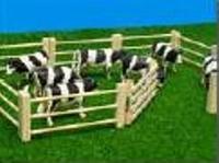 Houten afrastering 6-delig inclusief hek