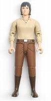 Vrouw - Donker Haar met beige shirt, bruine broek en laarzen  1:16