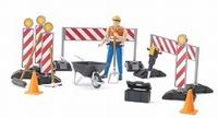 Set:Les travaux de construction avec un travailleur routiers