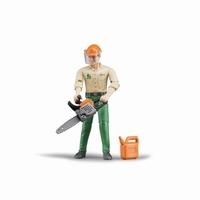 Figurine bûcheron avec accessoires forestiers