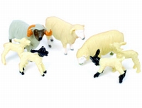 Britains - 7 Sheep (1 Ram, 2 sheep en 4 lambs)  1:32