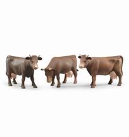 Vache brun / marron - 1 exemplaire  1:16