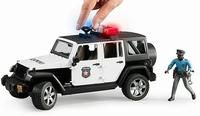 Bruder 2015 - POLICE Jeep Wrangler + Policier et accessoire  1:16