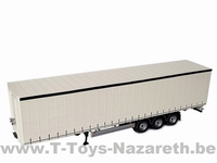MarGe Models 2019 - Pacton Curtainsider Trailer - White  1 32