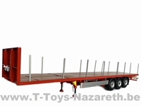 MarGe Models 2019 - Pacton flatbed trailer - Rood  1 32