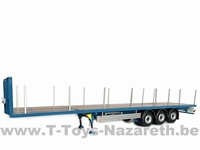 MarGe Models 2019 - Pacton flatbed trailer - Blauw  1 32