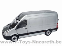 MarGe Models 2019 - Mercedes Benz Sprinter - Zilver / Grijs  1 32