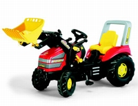Rolly-Toys - X-trac RTX tractor Red with frontloader 4-10 y.  ca 110 - 140 cm