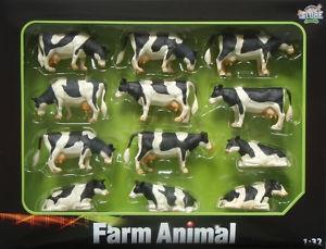Assortiment van 12 Zwartbonte koeien