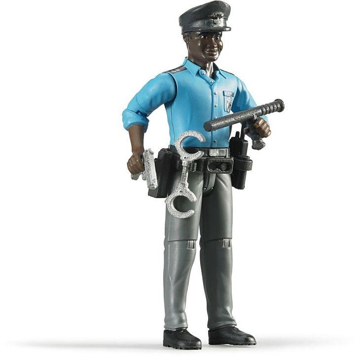 Bruder 2015 - POLITIE Agent (donker) met accessoires