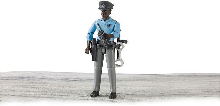 Bruder 2015 - POLITIE Agente (donker) met accessoires