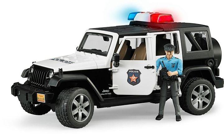 bruder 2015 police jeep wrangler policier et accessoire 1 16. Black Bedroom Furniture Sets. Home Design Ideas