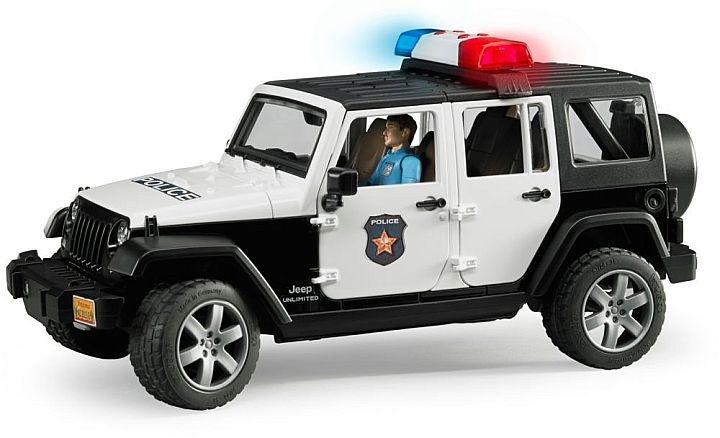 Bruder 2015 - POLIZEI fahrzeug Jeep Wrangler mit Polizist
