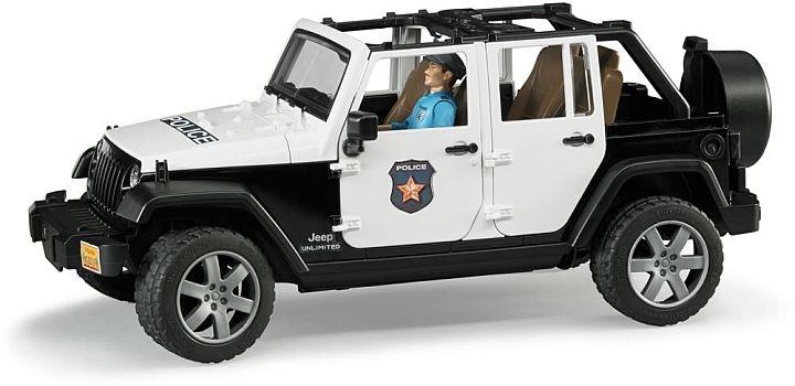 bruder 2015 police jeep wrangler and accessoires 1 16. Black Bedroom Furniture Sets. Home Design Ideas