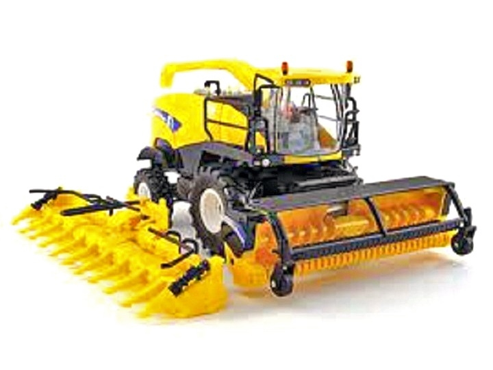 ERTL - New Holland FR9090 with Cornheader and Grass Pickup