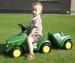 Rolly Toys - John Deere Minitrac aanhanger  ca. 68 - 92 cm
