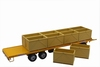 Maupu PM1180/200 Palox - 4-wheel trailer with 10 cubic boxes  1:32