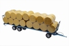 Maupu PM1180/200  blue - trailer with 40 round bales  1:32